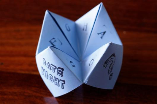 origami fortune teller date night